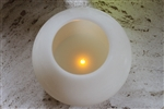 EcoGecko 6 Inch Wax MoonSphere LED Flameless Candle with 5 Hour Timer