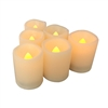 "EcoGecko Flameless LED Battery Votive Candles Realistic Flickering Battery Operated Powered Votives Bright Electric Candles Size-1.5""(D)x2""(H) Long Lasting Batteries Included"