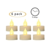 "Candle Choice Flameless LED Battery Tealight Candles with Timer Realistic Flickering Battery Operated Tea Lights Electric Candles Size-1.5""(D)x1.5""(H) with Long Lasting Batteries Included 6-Pack"