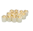 Candle Choice 12 Piece Realistic Flickering Flameless Candles with Timer, LED Votives, Battery-operated Votives, Tea Lights, Tealights, Long Battery Life 200+ Hours, Battery Included, with Drips