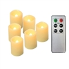 "Candle Choice 6 Piece Realistic Flickering Flameless Candles, Indoor / Outdoor LED Votives, Battery-operated Tea Lights with Remote and Timer, Long Lasting Batteries, 2""x1.5"""