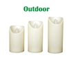 "Candle Choice 3 PCS Indoor Outdoor Flameless Candles with Timer, Realistic Flickering LED Pillar Candles, Weatherproof Battery Operated Candles, Long Battery Life 1500+ Hours, Size 3""x5"", 6"", 7"""