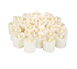 "Candle Choice 24 Piece Realistic Flameless Candles, Indoor / Outdoor LED Votives, Tea Lights, Battery-operated Candles, Long Battery Life 120+ Hours, 1.5""(D)2""(H), With Drips"