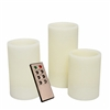 Candle Choice Set of 3 Even Edge Wax Flameless Candles with Remote and Timer