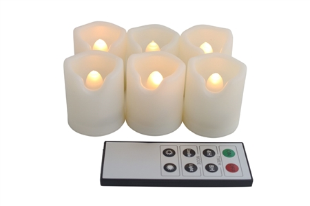 EcoGecko Indoor Outdoor Weatherproof Flameless Warm Glow Votive Candles with Remote and Timer, Battery Powered Candles, Tealights, Batteries Included
