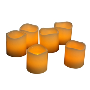 EcoGecko Real Wax LED Votive Candles, Premium Quality Flameless Candles With Timer - Votive Size, Battery Candle Set, Flickers Realistically. D 2 X H 2 Inches