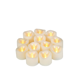 "Candle Choice12-Pack Realistic Indoor Outdoor Flameless Votive Candles Battery Operated LED Votive/Tea Lights with Timer 1.5""x1.5"" Tealights Party Wedding Birthday Holiday Home Décor  Gift"