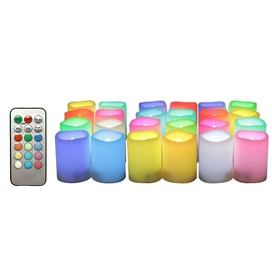 "Candle Choice Realistic Color Changing Flameless Votive Candles Bright Battery Operated RGB Multi-color LED Votives with Remote and Timer 1.5""x2"" Party Wedding Birthday Holiday Décor Gift"