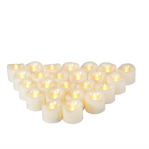 Candle Choice 24 PCS Premium Realistic Flameless Votive Candles, Battery-operated Votives, Long Battery Life 120+ Hours, Batteries Included